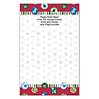 Challis & Roos Happy Howl-idays Large Note Pads