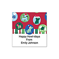 Challis & Roos Happy Howl-idays Square Labels