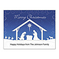 Silent Night Folded Note Cards