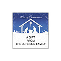 Silent Night Square Labels