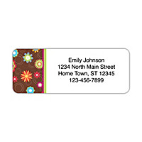 Floral Fun Address Labels