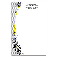 Fashion Flowers Large Note Pads