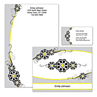 Fashion Flowers Personalized Stationery