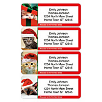 Rescued Is The Purrfect Breed Holiday Address Labels
