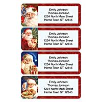 Santa Claus Holiday Address Labels