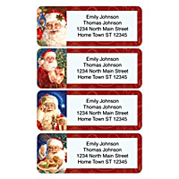 Santa Holiday Address Labels