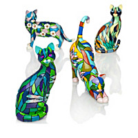 Purr-fect Reflections Of Tiffany Figurine Collection