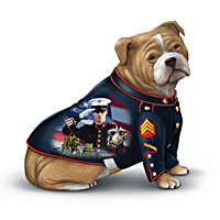 Devil Dog Salute To The USMC Figurine Collection
