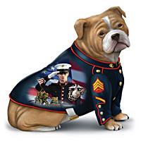 USMC Bulldog Mascot Figurines With James Griffin Marine Art