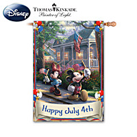 Thomas Kinkade Disney's Mickey & Minnie Flag Collection