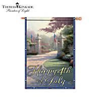 Thomas Kinkade Gateways Of Light Holiday Flag Collection