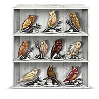 Nature's Wisdom Owl Curio Figurine Collection