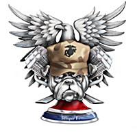 USMC Devil Dogs Biker Figurine Collection
