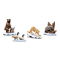 Peaceful Forest Wildlife Animals Village Accessory Set
