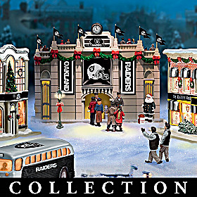 Oakland Raiders Christmas Village Collection