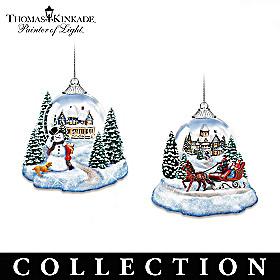 Thomas Kinkade Joy To The World Ornament Collection