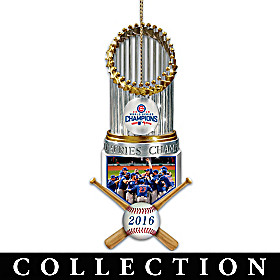 Chicago Cubs World Series Ornament Collection