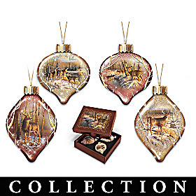 Nature's Majesty Glass Ornament Collection