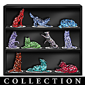 Rarest Gem Wolves Of The World Figurine Collection