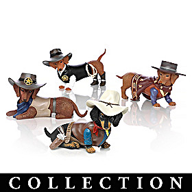 Spurs 'N Fur Dachshund Figurine Collection