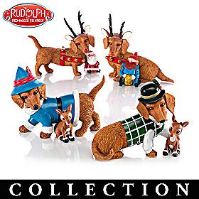 Happy Howl-idays Dachshund Figurine Collection