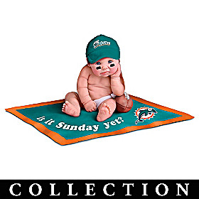 Miami Dolphins #1 Fan Commemorative Baby Doll Collection