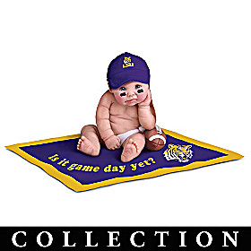 LSU Tigers #1 Fan Commemorative Baby Doll Collection