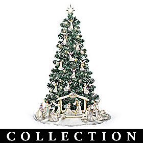 Silver Blessings Nativity Christmas Tree Collection