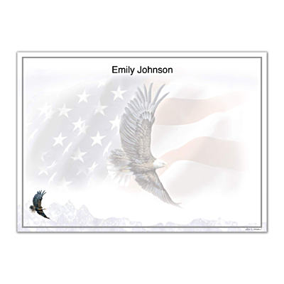 God Bless America Flat Note Cards