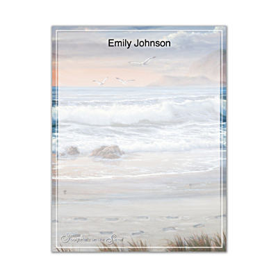 Footprints In The Sand Small Note Pads