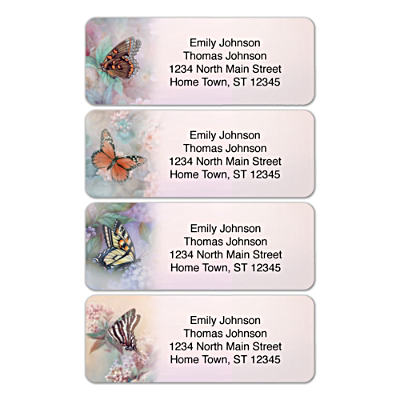 Lena Liu's Enchanted Wings Address Labels