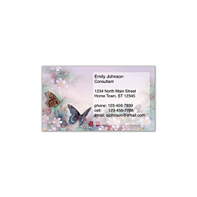 Lena Liu's Enchanted Wings Social Calling Cards