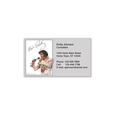 Remembering Elvis Social Calling Cards