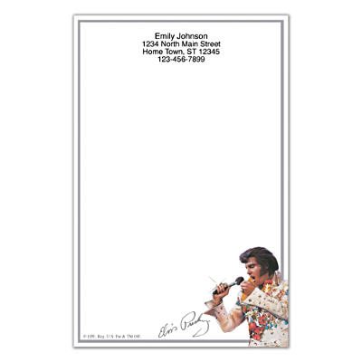 Remembering Elvis Large Note Pads