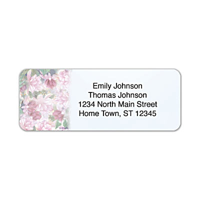 Lena Liu's Floral Borders Address Labels