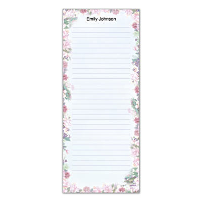 Lena Liu's Floral Borders List Note Pads