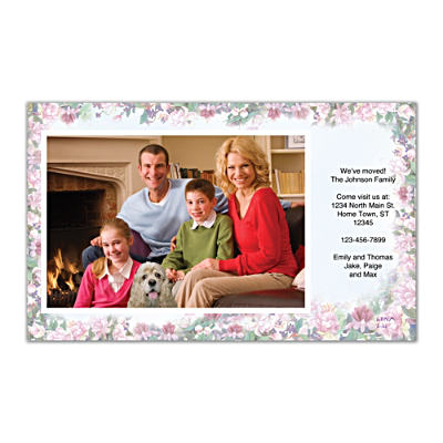Lena Liu's Floral Borders Photo Insert Cards