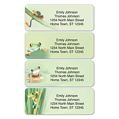 Froggy Fun Address Labels