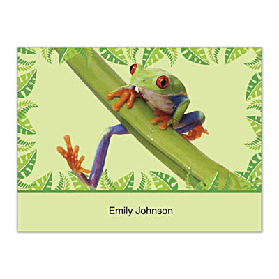 Froggy Fun Folded Note Cards