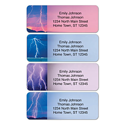 Lightning Strikes Address Labels