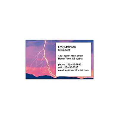Lightning Strikes Social Calling Cards