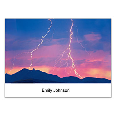 Lightning Strikes Folded Note Cards