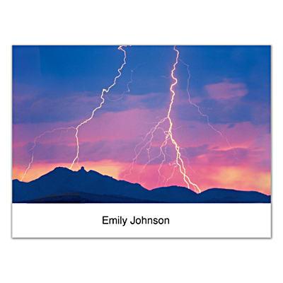 Lightning Strikes Folded Note Cards