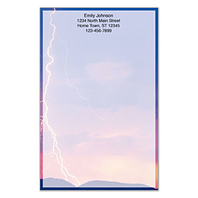 Lightning Strikes Large Note Pads