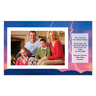 Lightning Strikes Photo Insert Cards