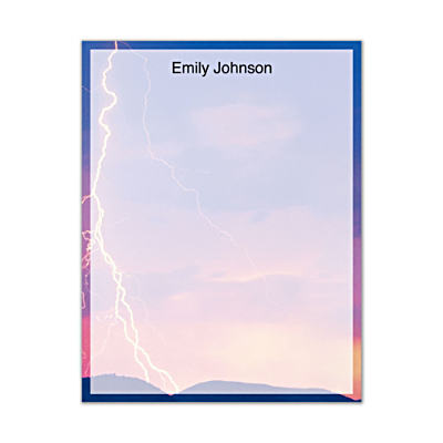 Lightning Strikes Small Note Pads