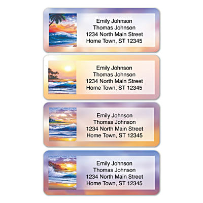 Hawaiian Sunsets Address Labels