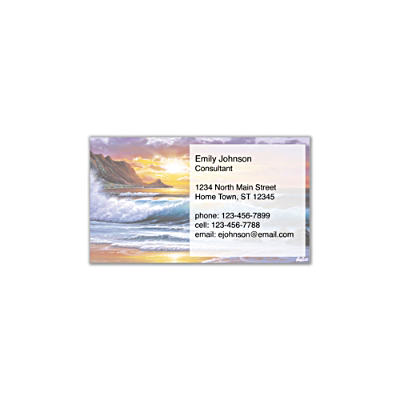 Hawaiian Sunsets Social Calling Cards