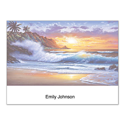 Hawaiian Sunsets Folded Note Cards
