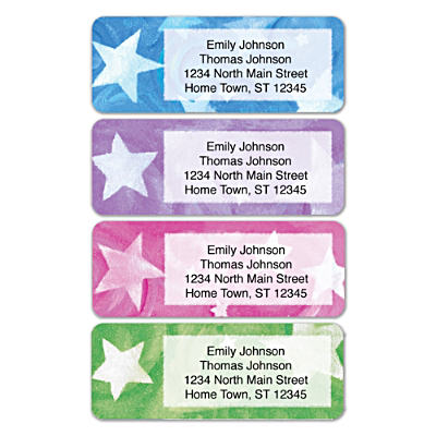 Shining Stars Address Labels